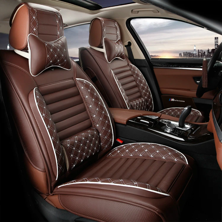 Full Set Leather Black Car Seat Cover For Toyota Ford