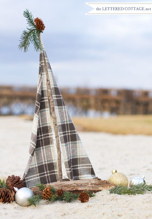 Deck out your driftwood sailboat for christmas sea 16 for Diy driftwood sailboat