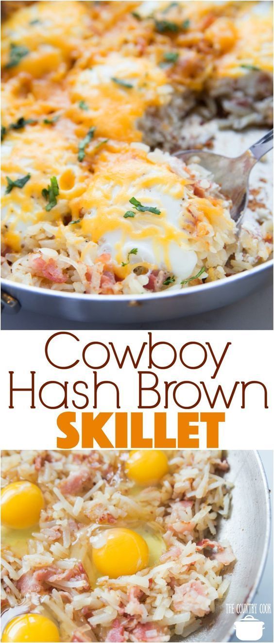 Return the pan to medium heat and add remaining butter. Cowboy Hash Brown Skillet | Recipe | Country cooking ...