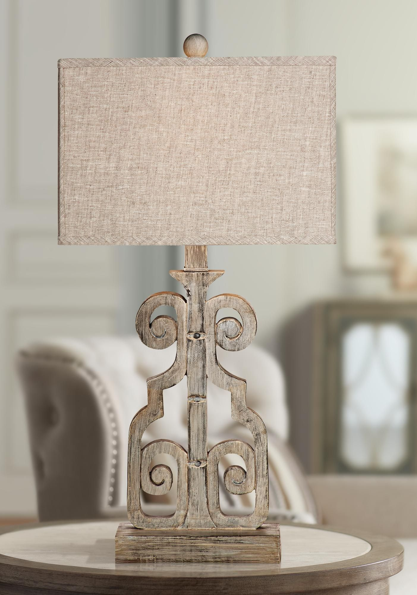 Belgian Luxe Braylin Weathered Gray Led Table Lamp Di 2020