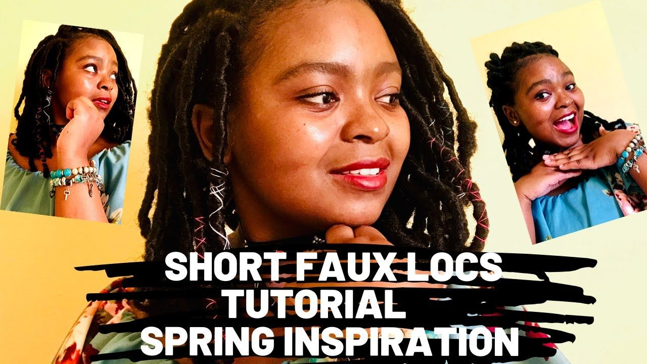 Short Faux Locs Goddess Locs Marley Boho Messy Shoulder Length