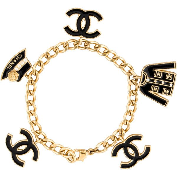 Pre Owned Chanel Cc Charm Bracelet 825 Liked On Polyvore