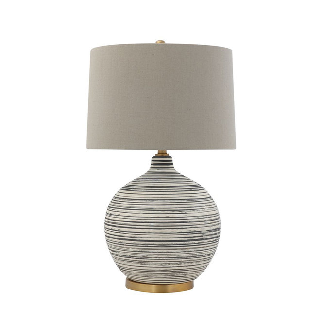 Natural Striation Table Lamp Table Lamp Ceramic Table Lamps Linen Shades