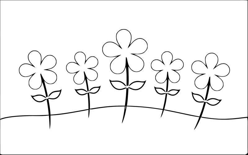 Spring Flowers Daisies Landscape Coloring Page Flower Coloring Pages Spring Flowers Coloring Pages