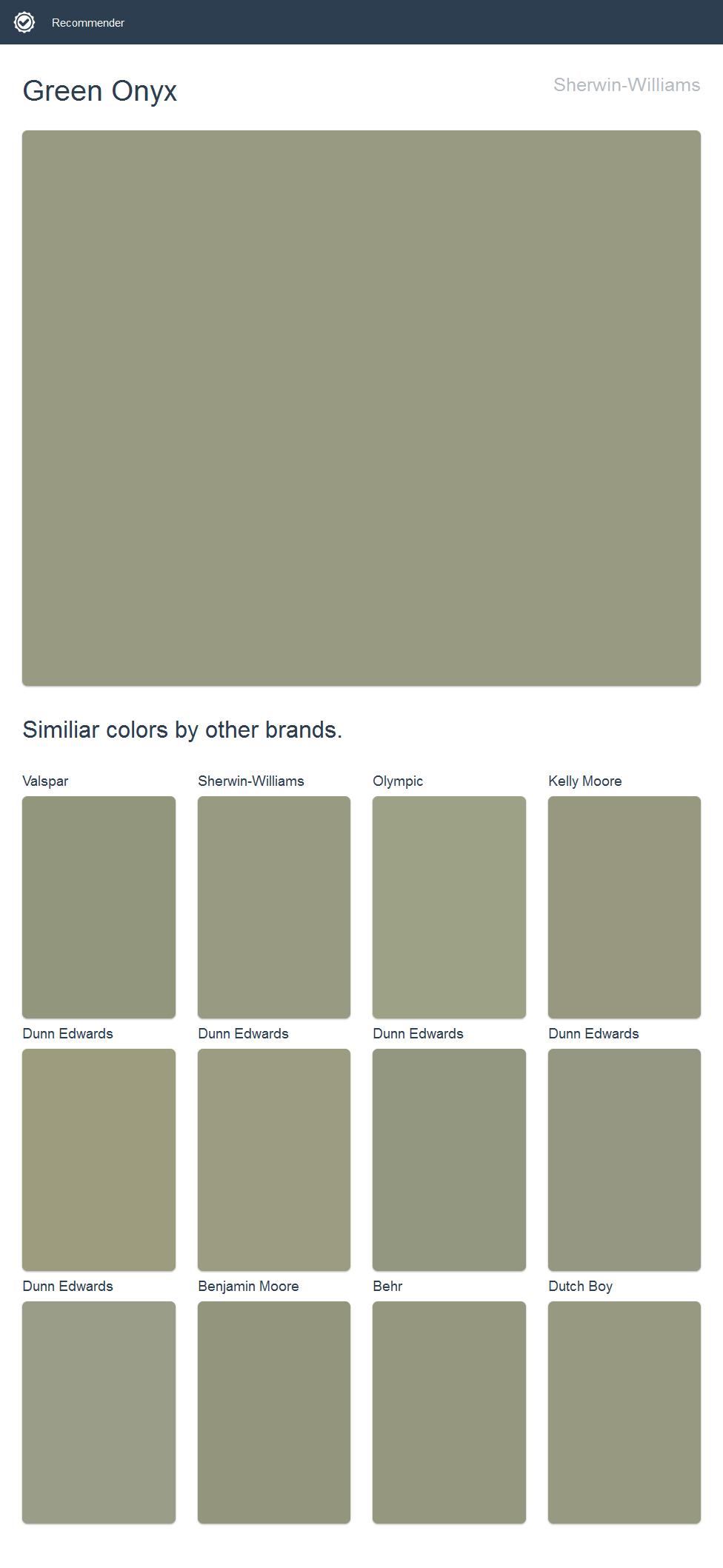 Green Onyx, Sherwin-Williams. | 2017 - Sherwin-Williams Paint ...