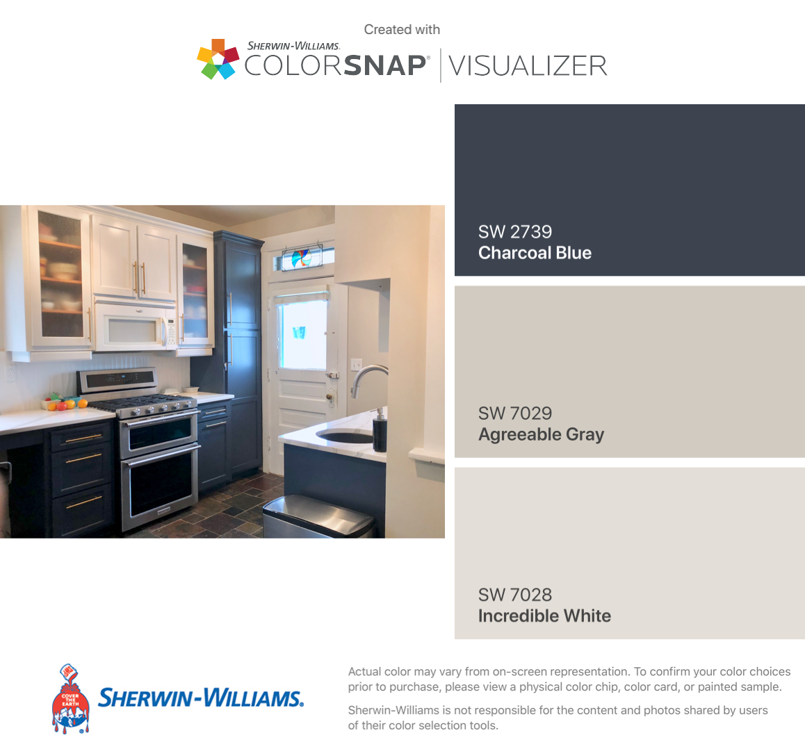 Finished Kitchen! Sherwin-Williams: LOWER CABINETS