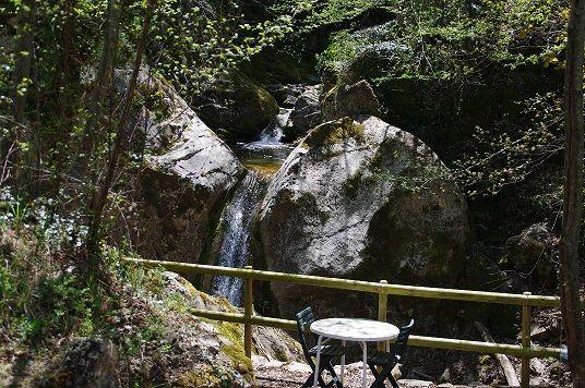 natural waterfall at B&B Harem