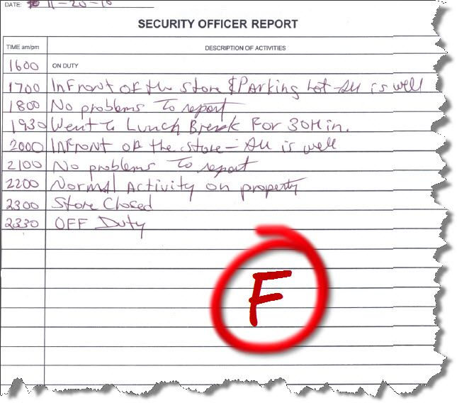 example-of-a-security-officer-report.jpg (645×568) | Security ...