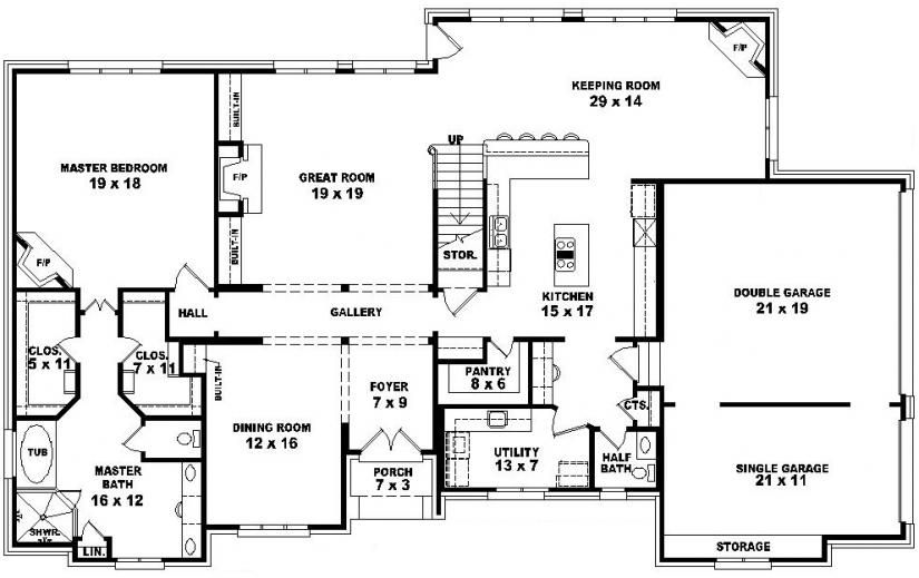 One Story 5 Bedroom House Plans Stylish 27 Two Story 4 Bedroom 3 5 Bath French Style House Plan House House Plans Bedroom House Plans 5 Bedroom House Plans