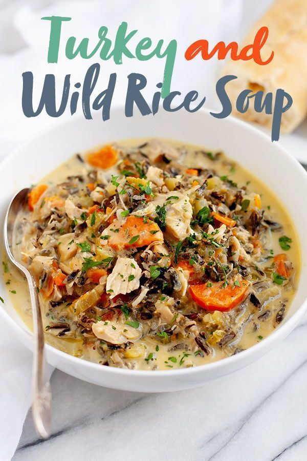 Cream of Turkey and Wild Rice Soup | Wholefully