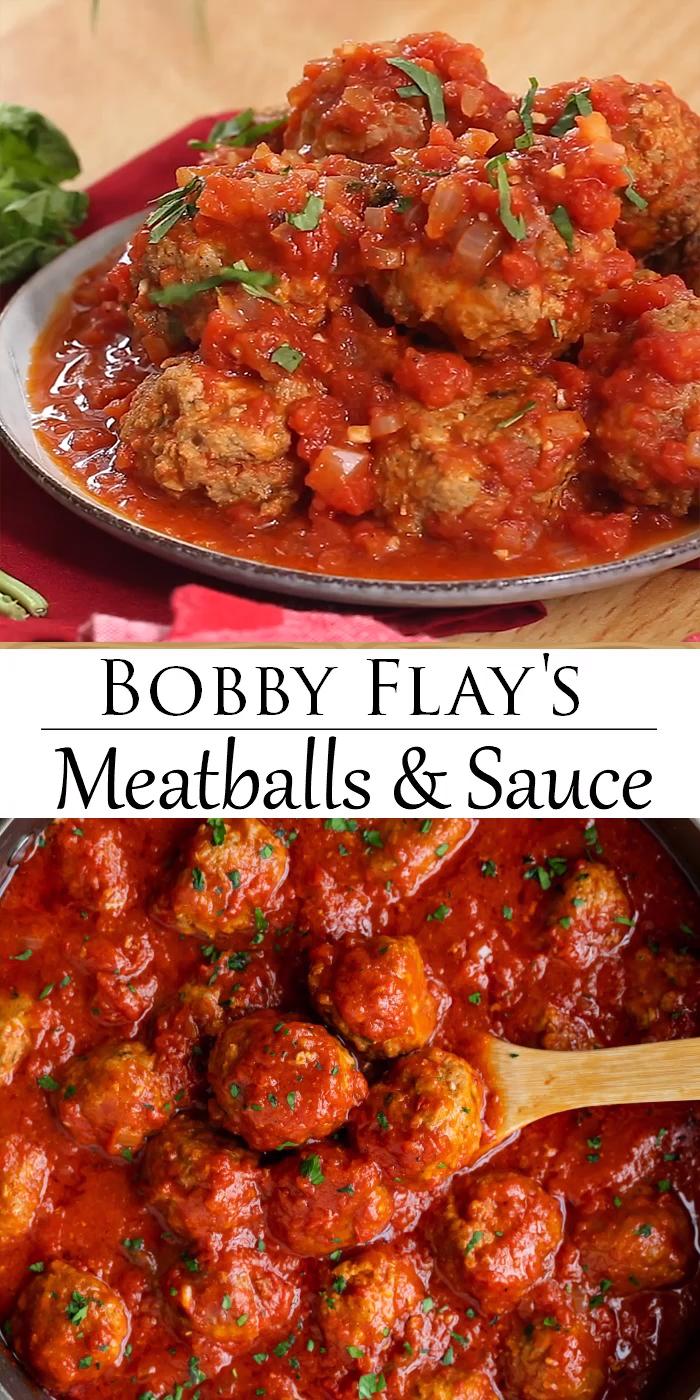 Bobby Flay's Meatball & Marinara Sauce