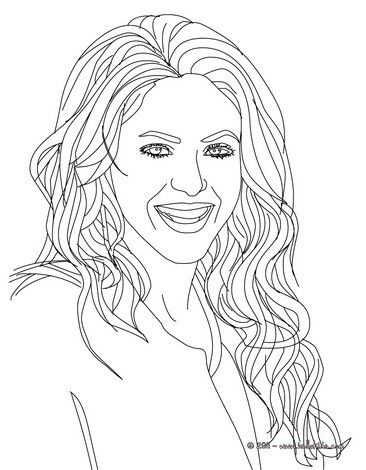 Shakira coloring page. More Shakira content on hellokids.com | Women ...