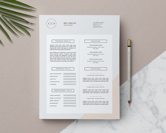 Resume Template 3page Creative Resume + Cover Letter Template - executive resume design