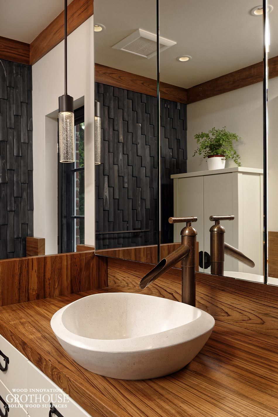 Pin By Grothouse On Bathrooms With Wood Countertops In 2019 Wood