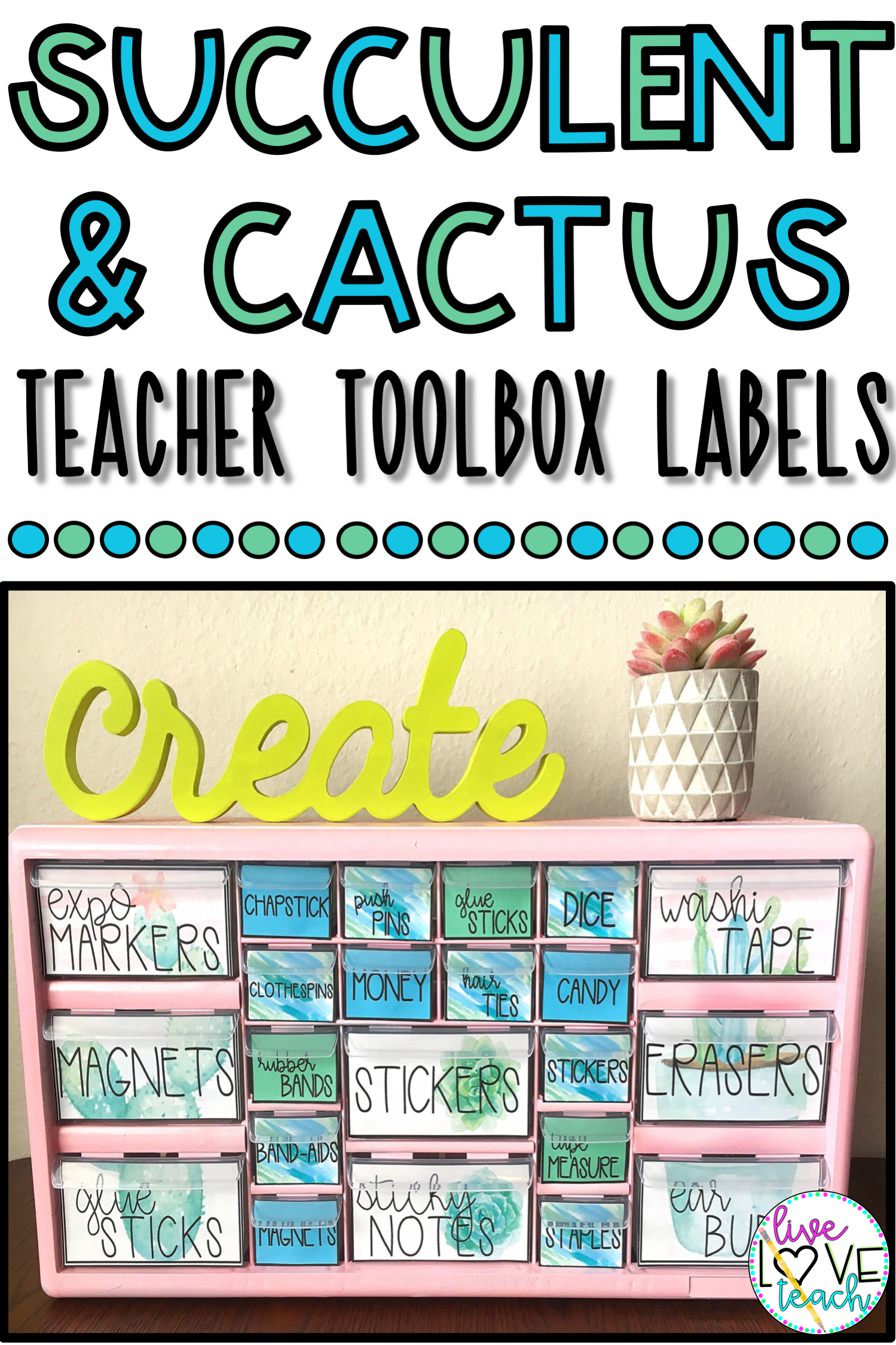 Editable Teacher Toolbox Labels Succulent Cactus Teacher Toolbox Labels Teacher Toolbox Lesson Plan Organization