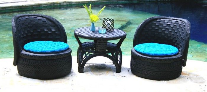 Reuse Furniture diy furniture from recycled automotive tires | diy furniture