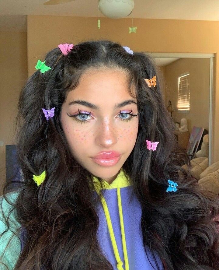 Butterfly hair clips in 2020   Clip hairstyles, Hair ...