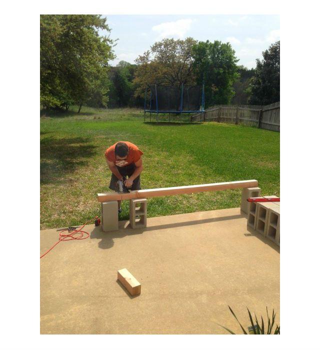 Como fazer um banco com blocos de concreto para jardim   Decoração e Dicas