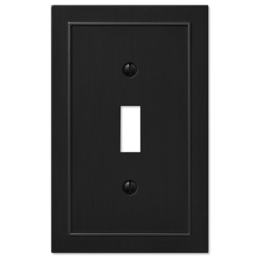 Amerelle Black 1 Gang Toggle Wall Plate 1 Pack In 2020 Plates On Wall Black Light Switch Electrical Box Cover