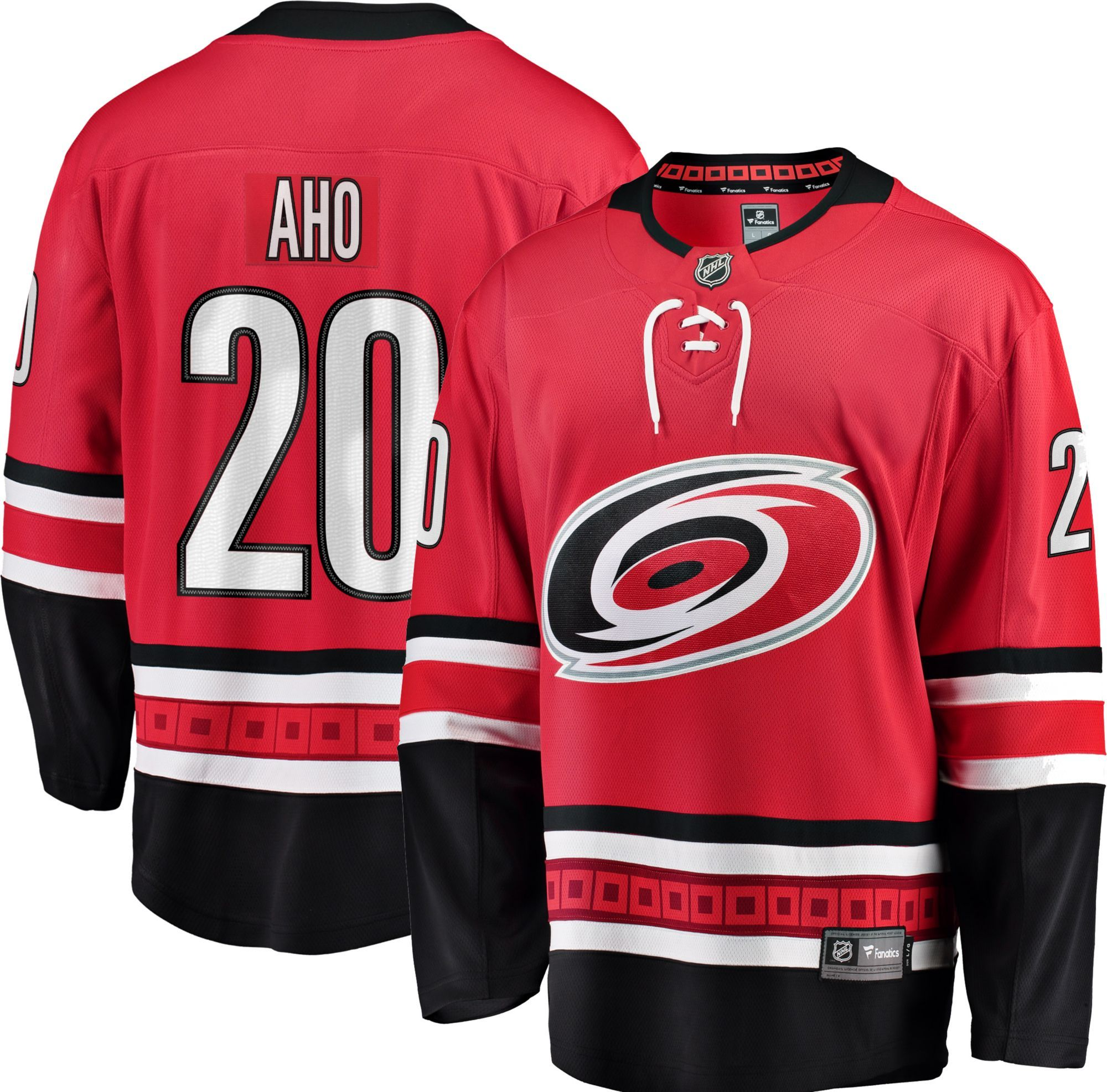 913dcf24fa7ee NHL Men's Carolina Hurricanes Sebastian Aho #20 Breakaway Home ...