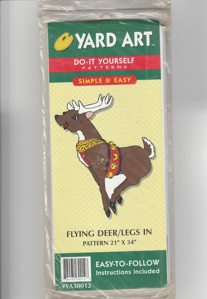 Details about flying deer reindeer yard art pattern woodworking 21 details about flying deer reindeer yard art pattern woodworking 21 x 34 easy instructions solutioingenieria Images