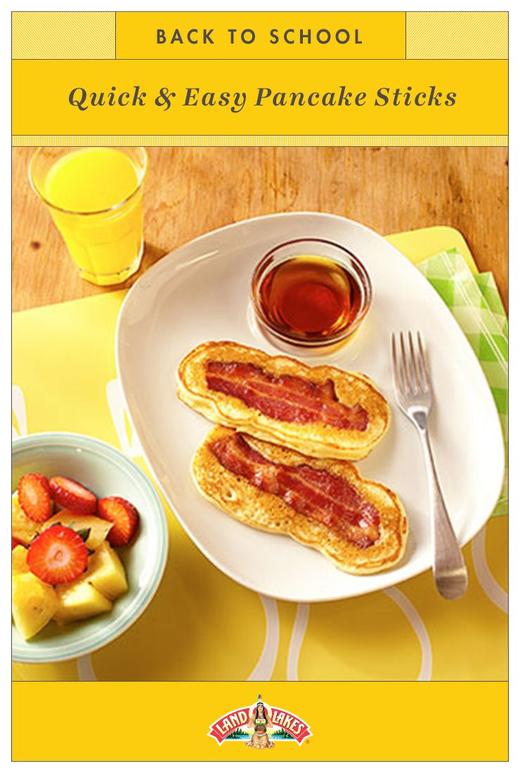 Back to school breakfast just got a whole lot easier pour pancake pour pancake batter over crispy bacon pieces to create portable pancake sticks its back to school time but dont worry youve got this ccuart Choice Image