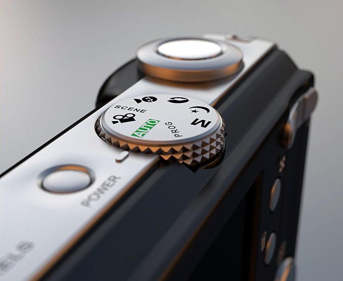 S700 Digital Camera.  Done with Blender by Gwenouille