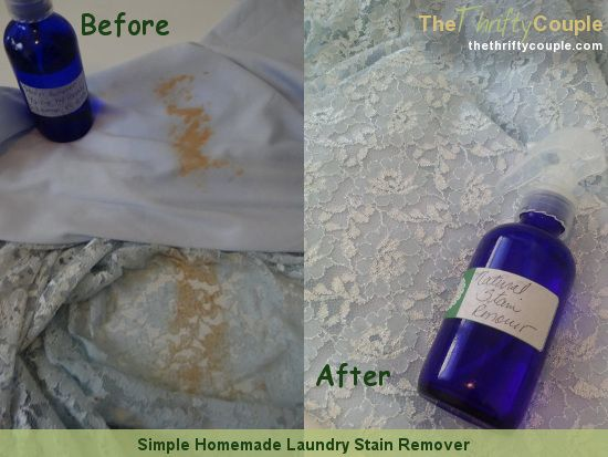 Simple Homemade Natural Laundry Stain Remover Recipe Laundry