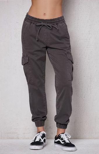 Stone Gray Cargo Jogger Pants Joggers Womens Cargo Pants Women Pants For Women