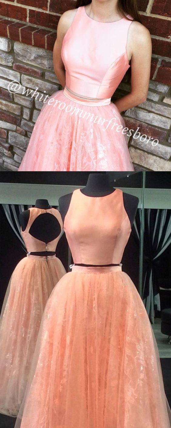 cute prom dresses, elegant 2 pieces prom party dresses, prom dresses, sparkling prom dresses, fancy open back prom party dresses, prom dresses 2017