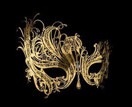 Gold Style Vénitien Métal Filigrane masque de mascarade Carnaval Parti Prom ball yeux
