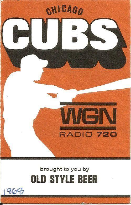 1968 Chicago Cubs WGN Pocket Schedule TOUGH!
