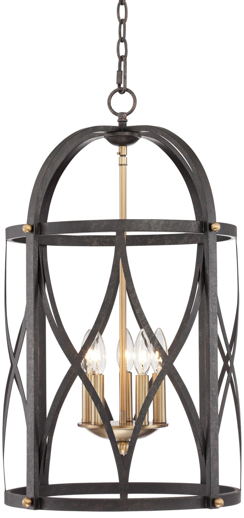 Wide Foyer Chandelier : Torrison light quot wide dark bronze foyer chandelier