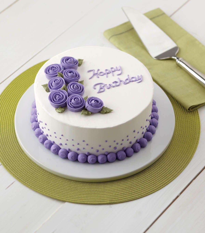 Vivid Violet Roses Cake // Birthday Cake // Wilton Cakes ...