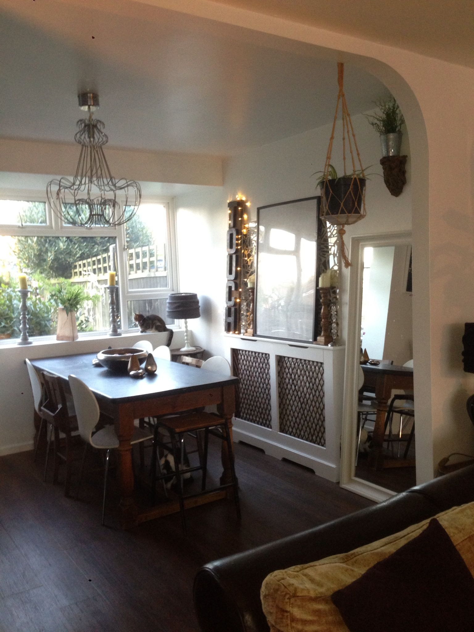 Our Dining Room With Blackboard Painted Table Vintage Church Beauteous Mosaic Dining Room Table Design Ideas