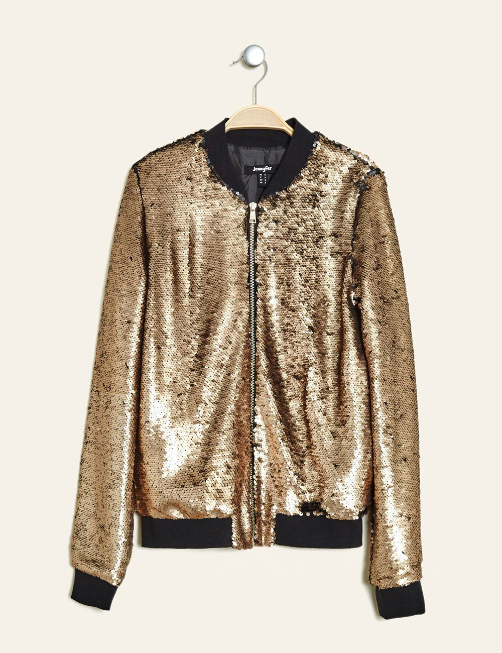 Sequins Réversibles Bomber En • Doré Femme Jennyfer 2019 Shopping dzxw6RqZ