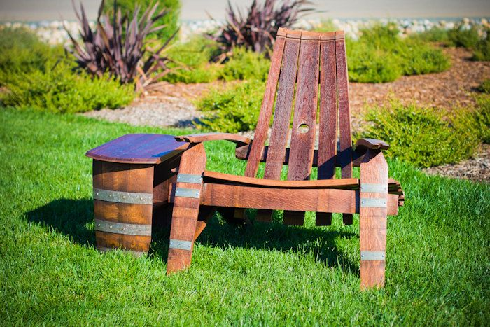 Wine Barrel Adirondack Chair Sale 35960 Via Etsy Deck