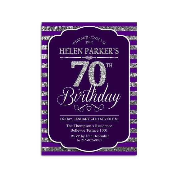 70th birthday invitation any age