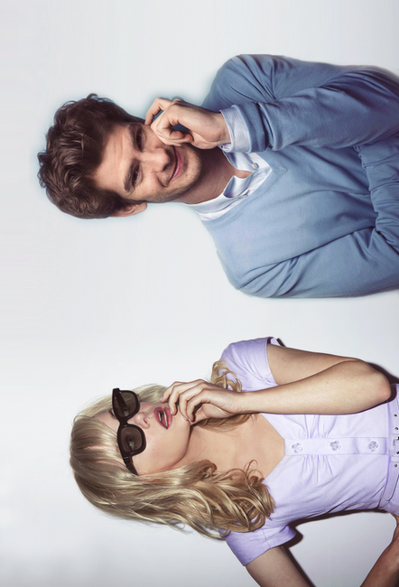 Emma Stone and Andrew Garfield :) i saw this and automatically thought of Flynn Rider and Rapunzel!