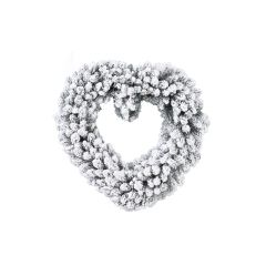 Coeur enneigé 50cm. A découvrir dans votre magasin TRUFFAUT