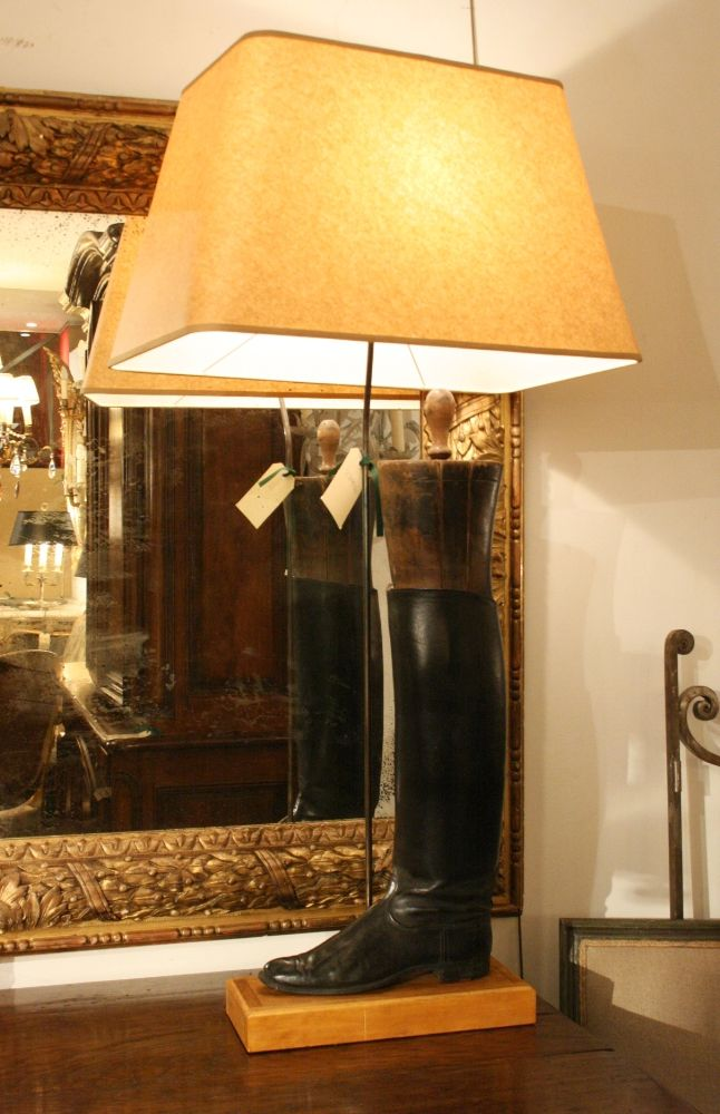 1800s Antique Boot Lamp 1900 Www Thecountrytrader Com Au Lamp Table Lamp Equestrian Style