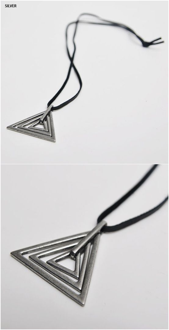 Version 2 NewStylish mens accessory Abstract Vintage Triangle Figure Necklace