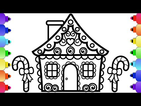 1 Learn To Draw And Color A Gingerbread House Christmas Coloring Pages Youtube In 2020 Christmas Coloring Pages Christmas Colors Coloring Pages