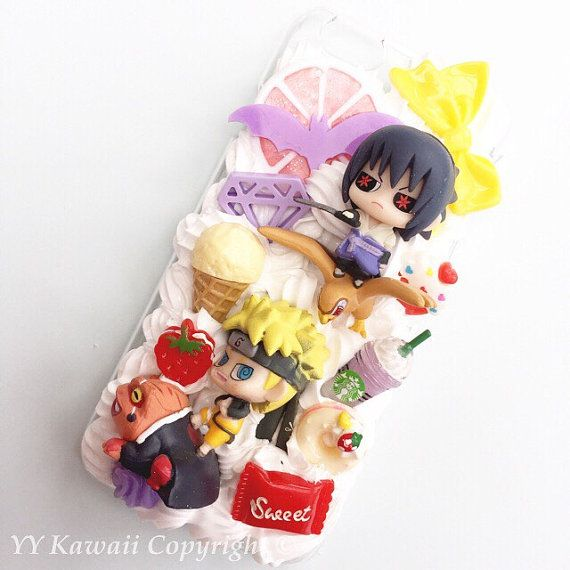 huge selection of 5efe9 d396b Custom kawaii anime manga Naruto Sasuke Decoden Phonecase for Iphone ...