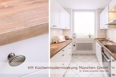 Zeyko Küche renovieren - neue #Fronten, neue #Arbeitsplatten und ...