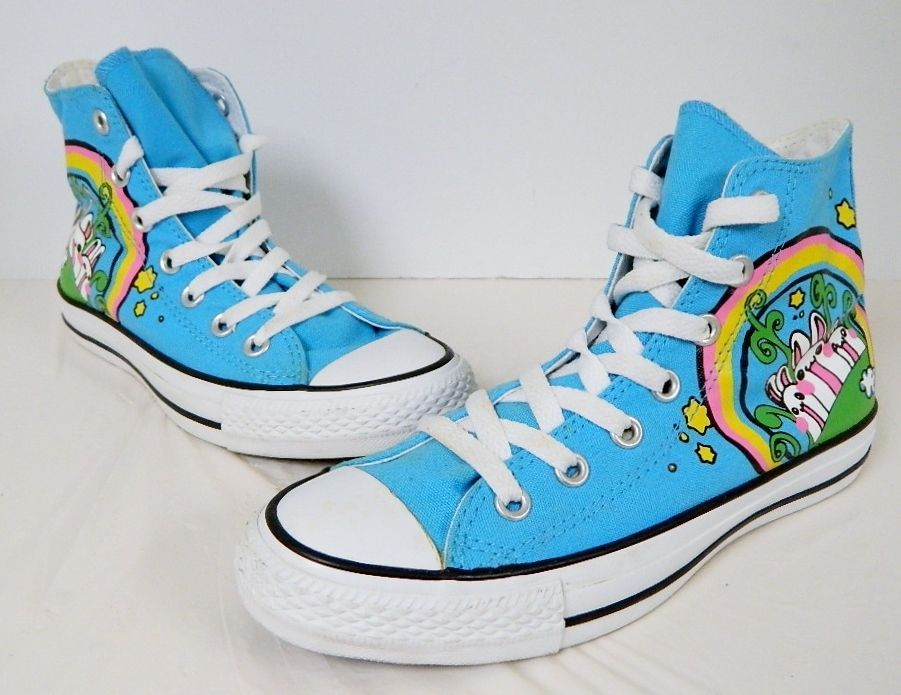 e3f7e7033af Converse All Star Chuck Taylor High Tops Rainbow Bunny Blue Mens 5 Womens 7   Converse  HiTop  ebay  etsy  converseshoes  converse  chucktaylor   rainbowbunny