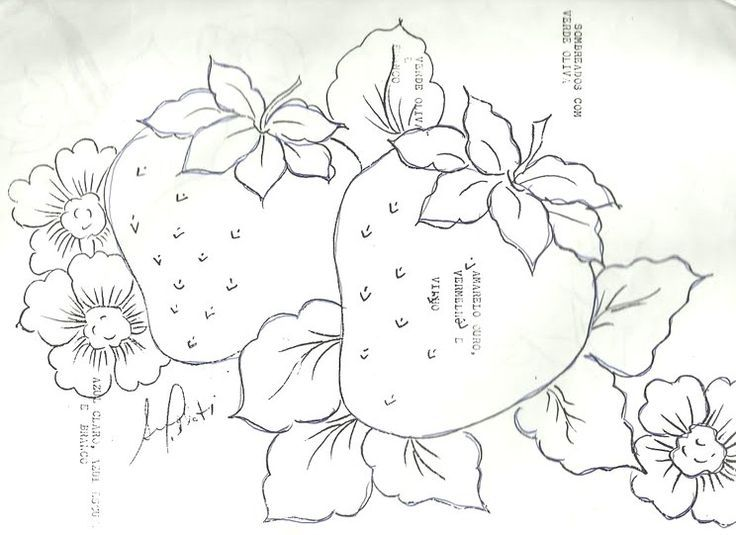 Dibujos de flores y frutas para pintar en tela buscar con google navidad fabric - Dibujos para pintar en tela ...