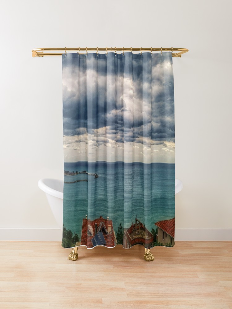Amazing Sea View Clouds Shower Curtain By Bennemm Cool Shower