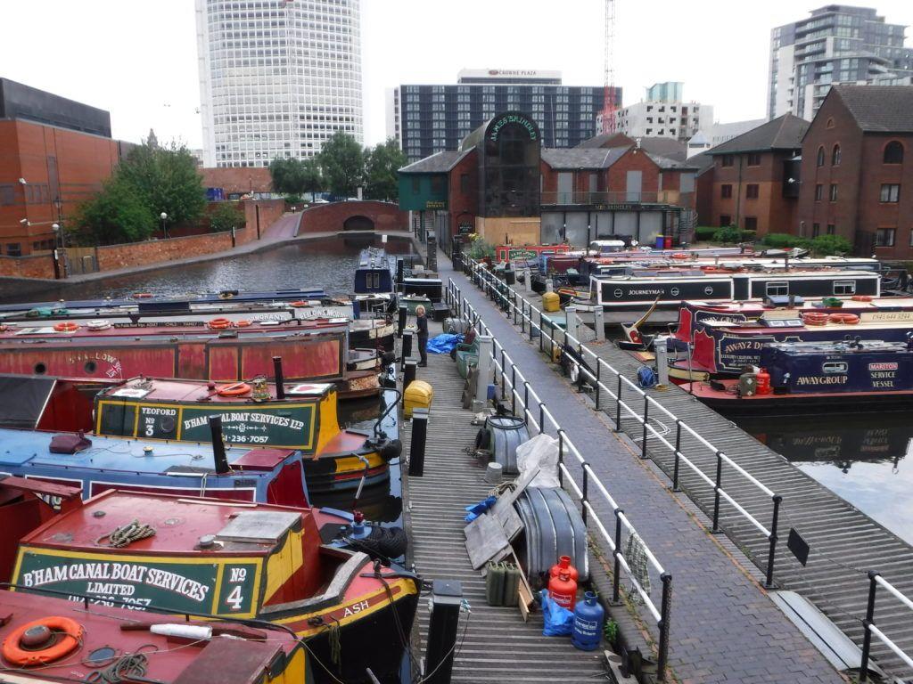Gas Street Basin Canal Barge Canal Boat Narrowboat