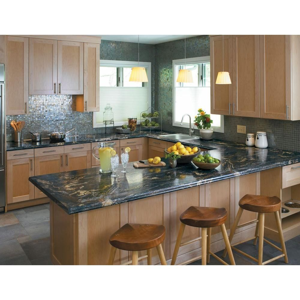 5 Ft X 12 Ft Laminate Sheet In 180fx Blue Storm With Radiance Finish 0346712rd512 Kitchen Countertops Laminate Replacing Kitchen Countertops Laminate Kitchen